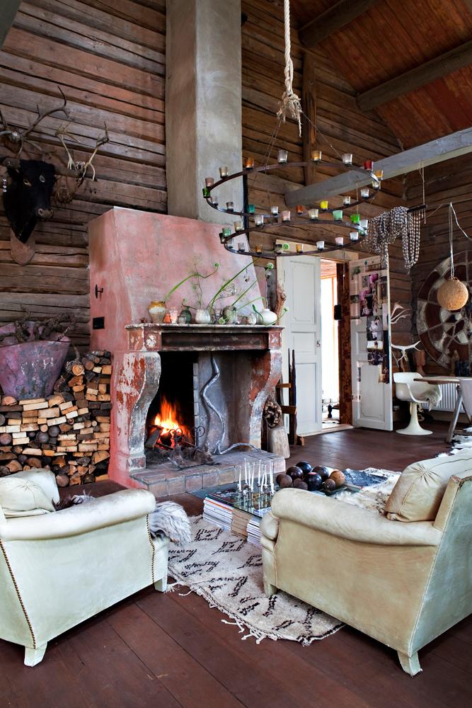 Cozy Rustic Cabin Living Room