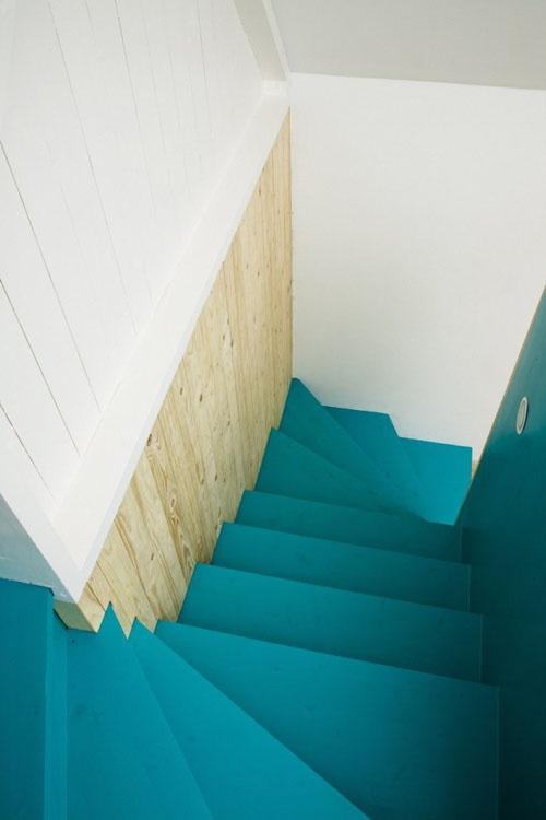 blå trapper