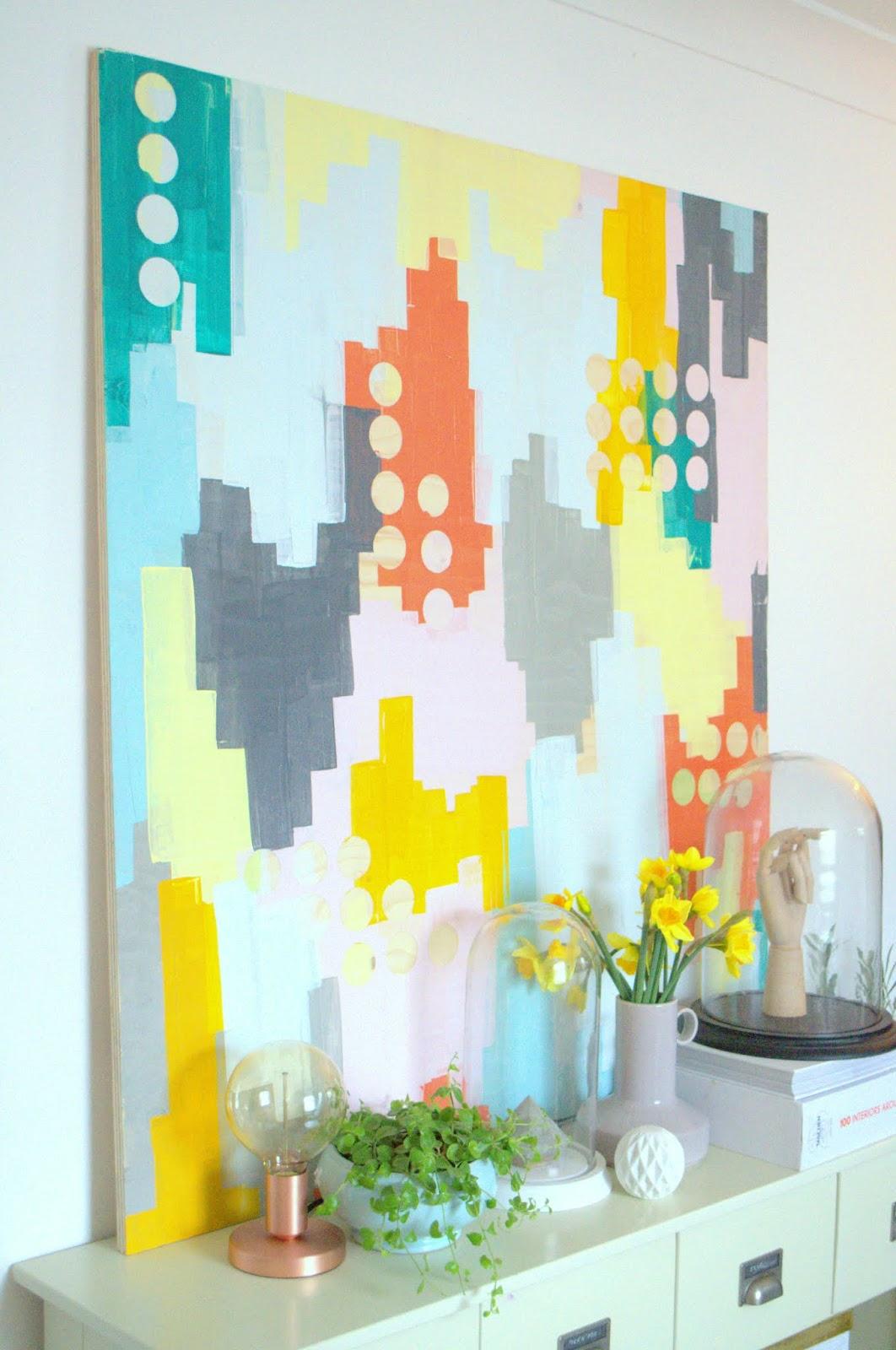 The Big Easy Abstract Art Diy Roomdesign